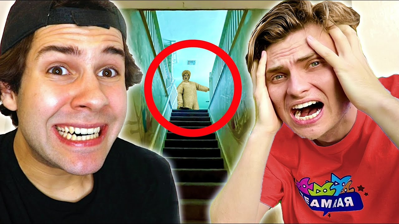 David Dobrik is Scared of Ghosts at the Team RAR House