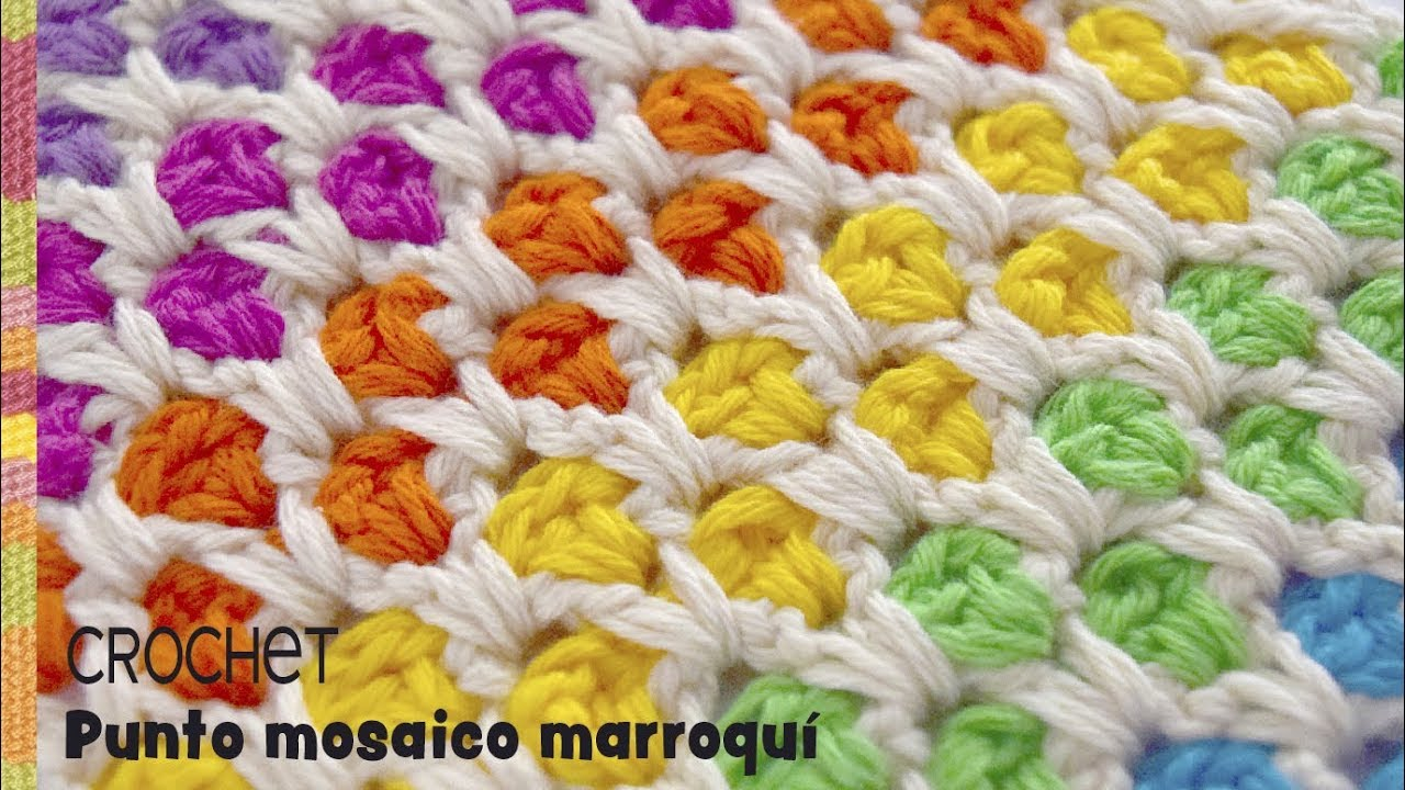Punto mosaico marroqu colorido tejido a crochet for Mosaico marroqui