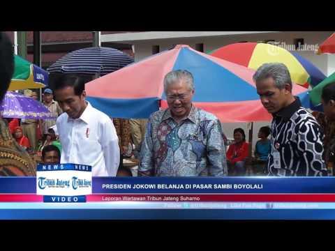 Ganjar Ngajak Gojek Pedagang Sate yang Lagi Sibuk Melayani Presiden Jokowi