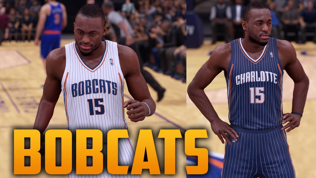 Nba 2k16 2009 Charlotte Bobcats Jersey Court Tutorial Youtube