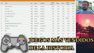 LOS JUEGOS MÁS VENDIDOS DE LA HISTORIA (Vgchartz) - Análisis de la lista