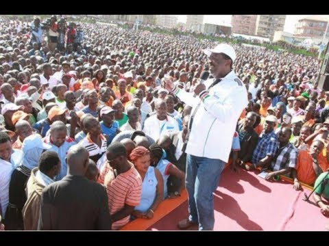 Musalia Mudavadi reads NASA's statement ahead of Presidential Election