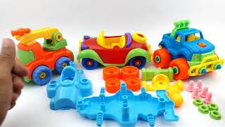 Learn Colors With Racing Cars For Kids | Racing Cars Assembly Video for Kids