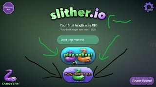 play against a i    slither io new update