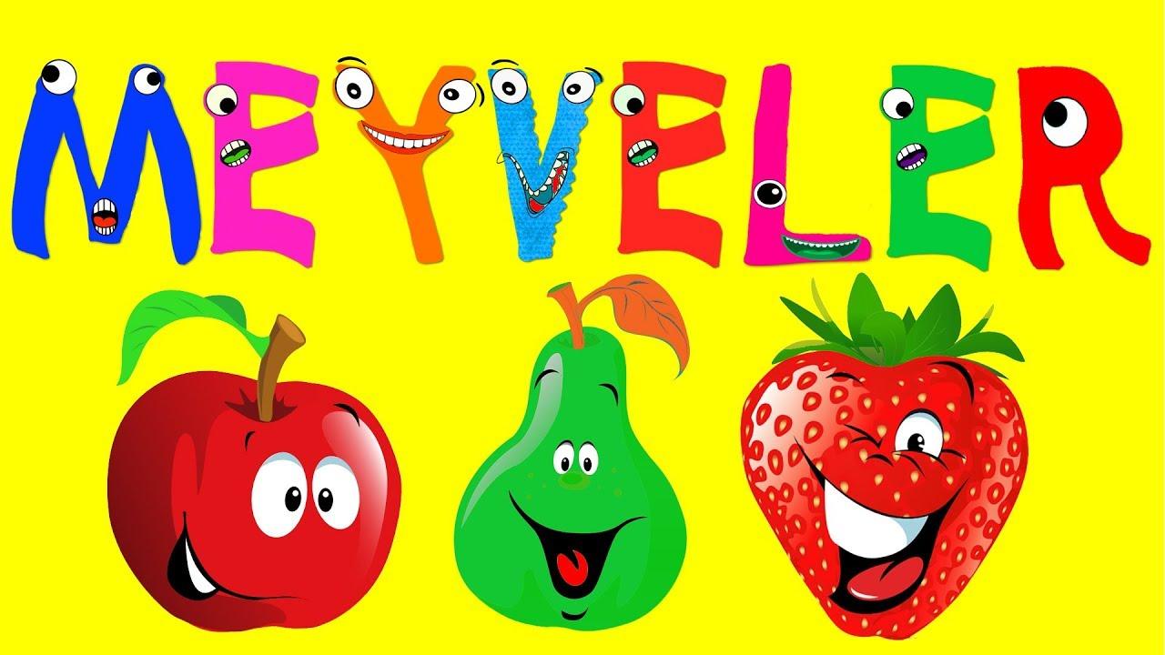 ABC Alfabe Meyveler ile Harfleri Öğreniyoruz