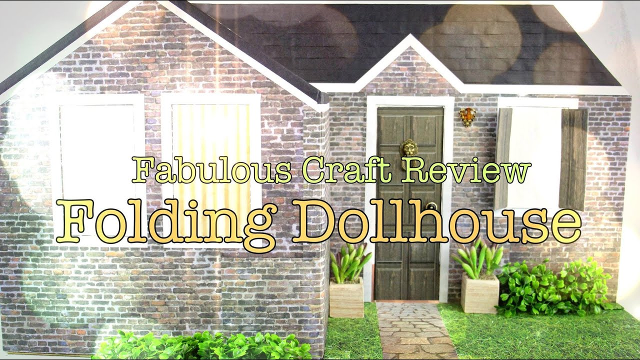 Fabulous craft review folding dollhouse youtube for Make my house