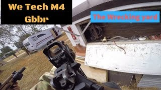 We Tech M4 Gbbr airsoft Gameplay | At The Wrecking Yard Pixley