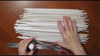 3 ИДЕИ поделок ИЗ ТРУБОЧЕК ГАЗЕТ бумаги своими руками. Подарки на День Матери. декор дома DIY видео