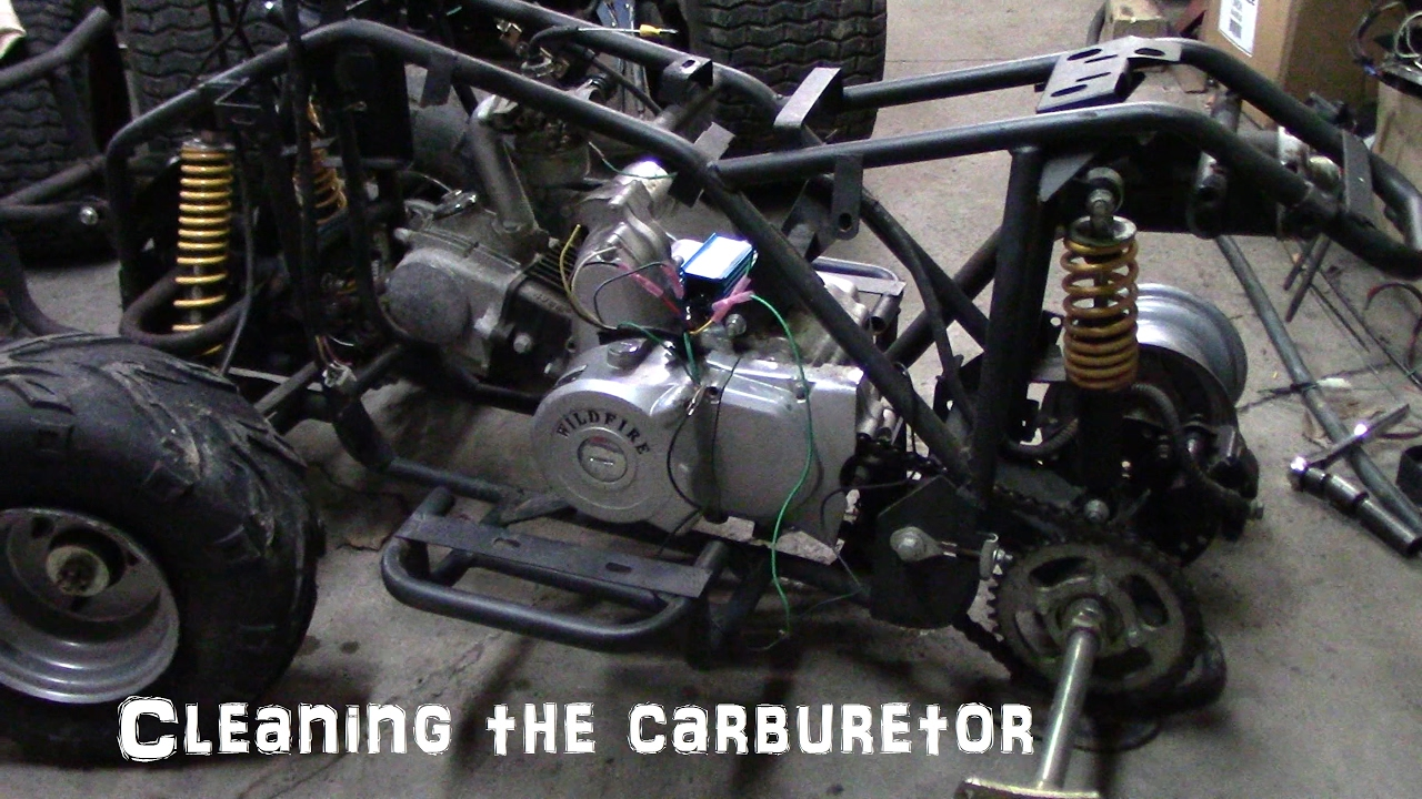 110cc Chinese Engine Wiring Diagram Cleaning The Chinese Atv Carburetor Youtube