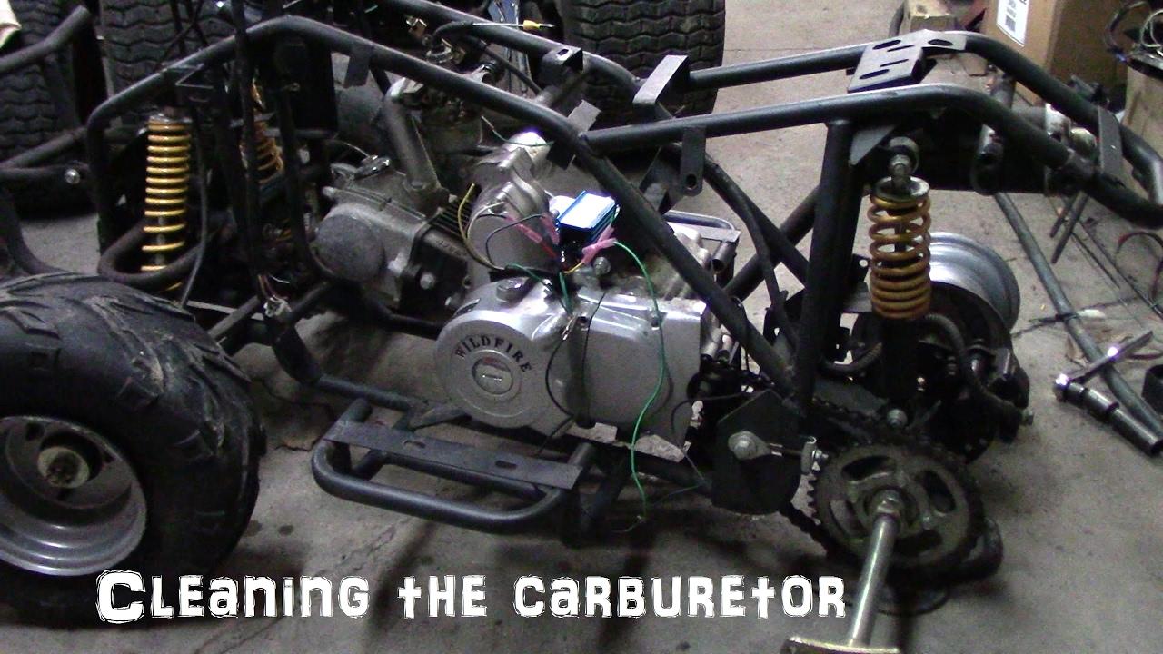 Chinese Atv Mercruiser 5 7 Alternator Wiring Diagram Cleaning The Carburetor Youtube