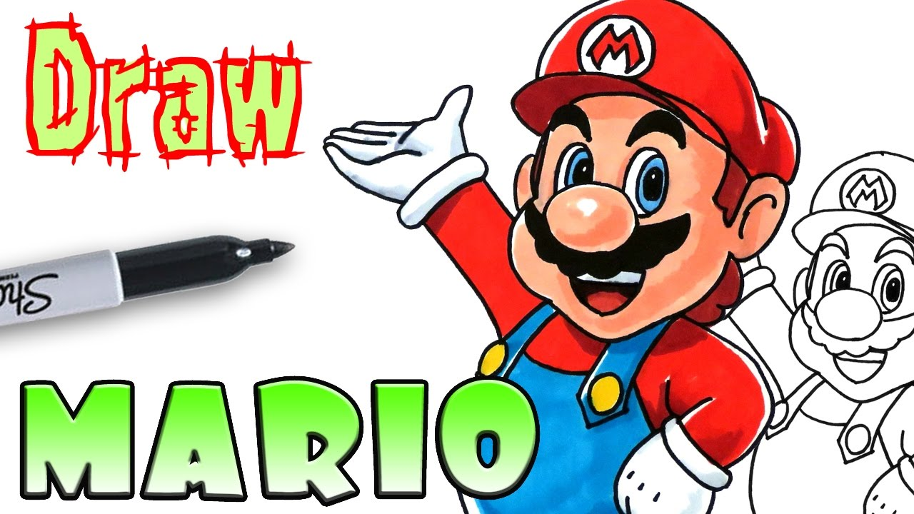 how to draw mario youtube