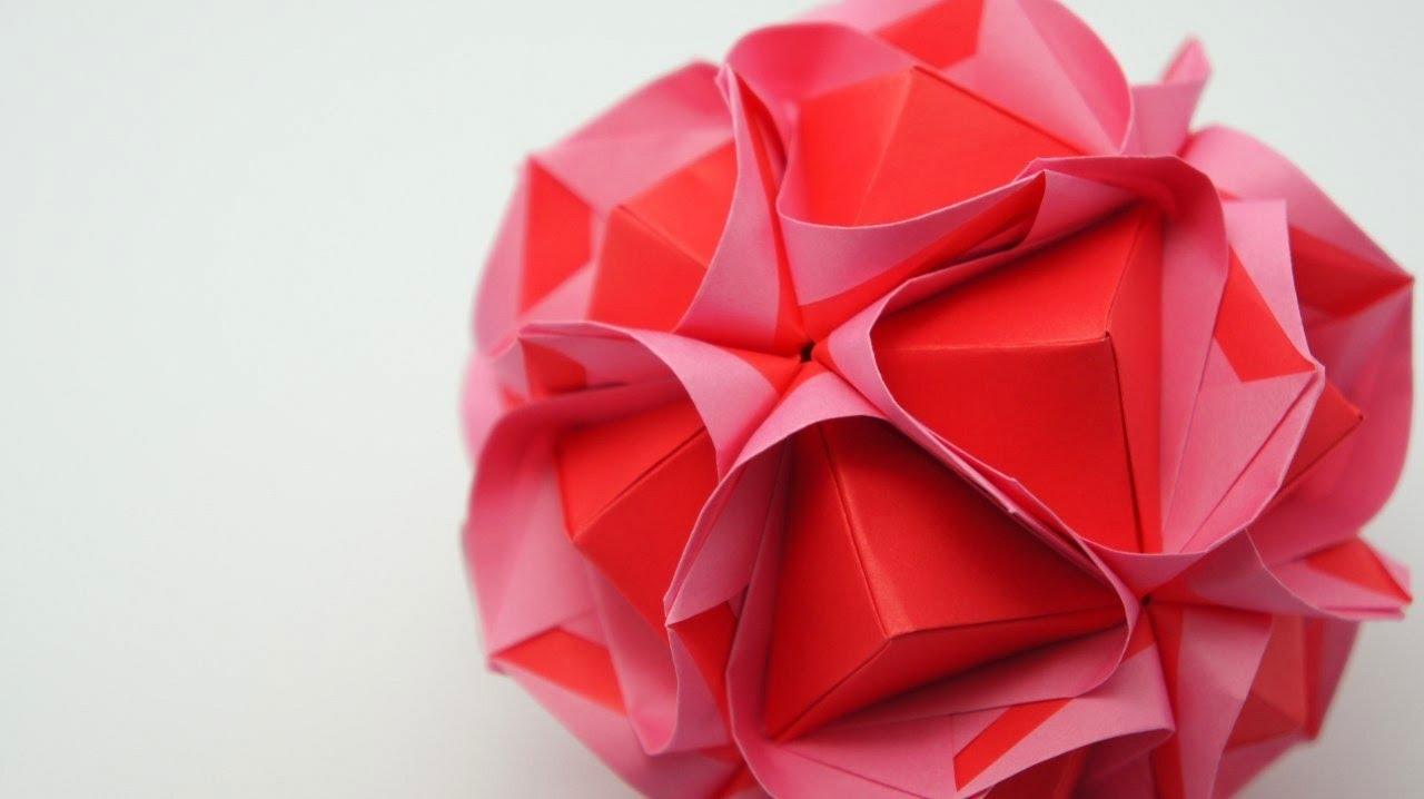 Origami clover kusudama maria sinayskaya youtube jeuxipadfo Gallery
