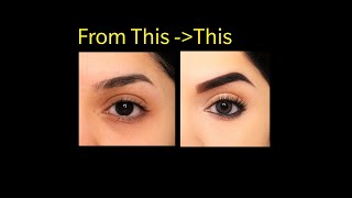 Everyday Eye makeup for Work, School, College | How to Cover Dark circles, Puffy Eyes