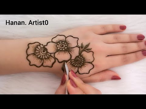 How to draw the rose on hand /henna arabic - Hanan. Artist0