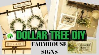 DOLLAR TREE DIY FARMHOUSE SIGNS