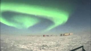 Aurora Australis in South Pole Lunar Time Lapse