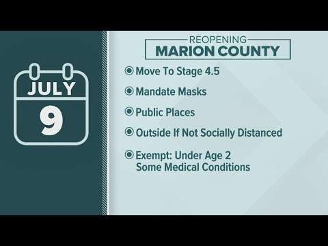 Marion County Residents And Visitors Are Under A Mandatory Mask Order