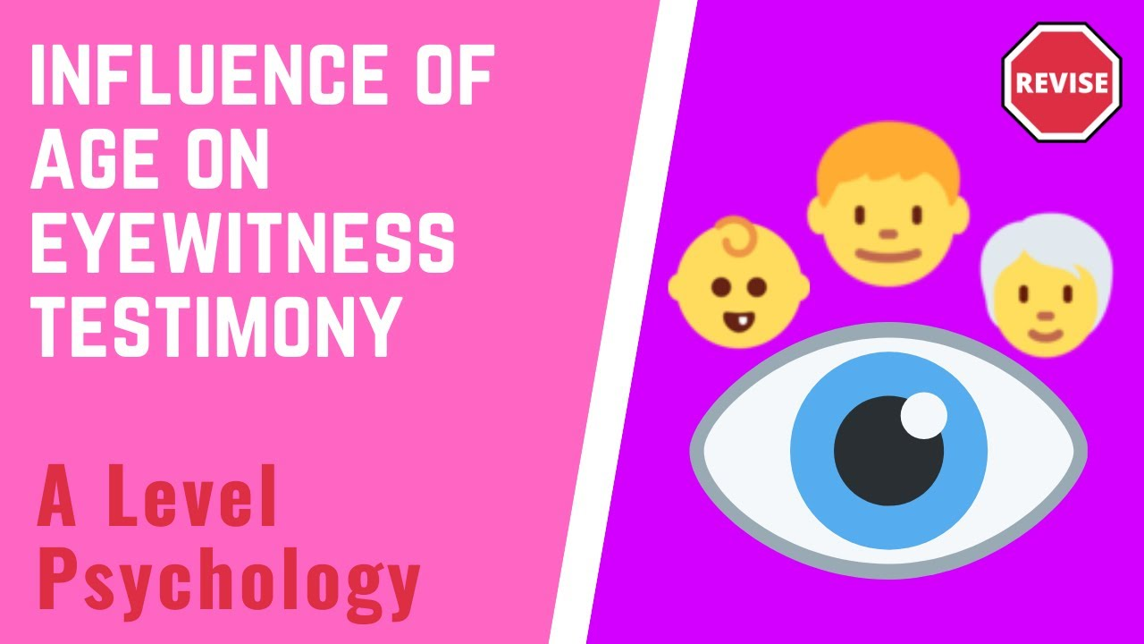 age differences in eyewitness testimony No significant group differences were found among the other factors  logistic  regression predicting verdict from eyewitness age, quality of interaction,  and  stereotypes around the credibility of children's eyewitness testimonies (goodman ,.