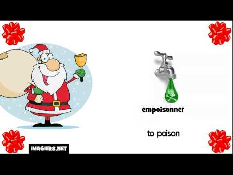 105 Minutes To Learn French with Santa #388 verbs with translations and illustrations