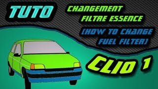 TUTO comment changer filtre à essence clio 1 (how to replace fuel filter) HD