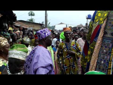 Egungun - Masquerade in a small village near Ife, Nigeria