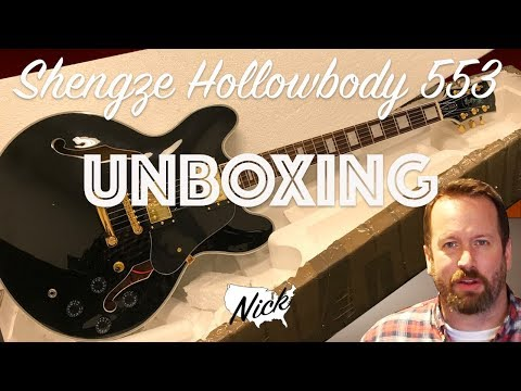 Shengze Hollowbody 553 Unboxing - Formerly Bad Cat Instruments Gibson ES-335 Inspired Semi Hollow