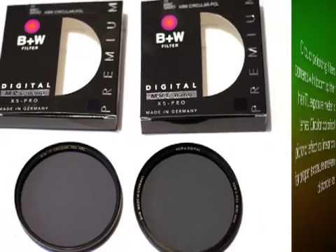 B+W 67mm Circular Polarizer MRC, multi coated, reflection and .