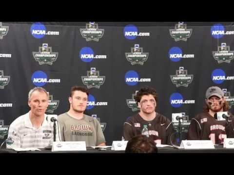 Brown University Men's Lacrosse - NCAA DI Final Four Press Conference