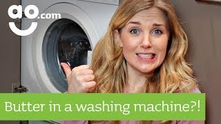 Maddie Moate - How to make butter in a Washing Machine?! | ao.com Recipes