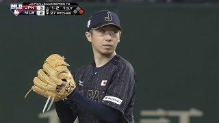 JPN@MLB: Kaneko fans five vs. MLB All-Stars in Japan
