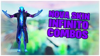 SHOWING THE * NEW * INFINITE SKIN + COMBOS & * NEW * ENVELOPAMENTO | FORTNITE