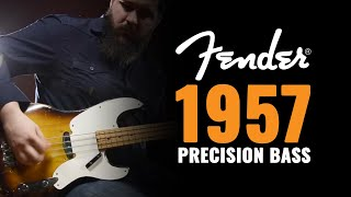 1957 Fender Precision Bass 2 Tone Sunburst Demo