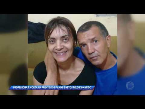 Mulher é assassinada na frente dos filhos pelo ex-marido