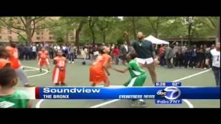Monroe Houses Basketball Court Dedication in the Bronx