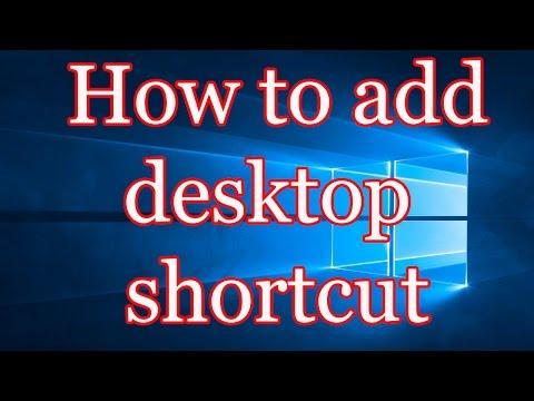 Windows 10 How To Add Desktop Shortcut Of Your Favorite Programs