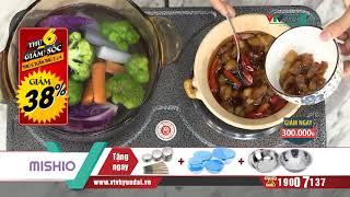 [VTV-HYUNDAI] MISHIO - Bếp điện đôi TẶNG Bộ 6 chén 6 đôi đũa + Bộ 5 thố thủy tinh VH05157