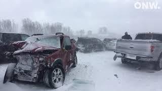 911 call and photos from 100+ car pileup on I-41