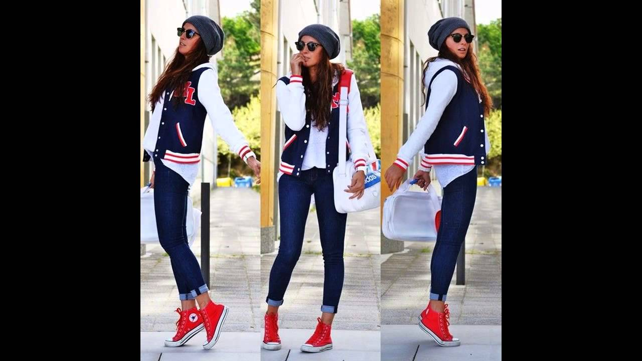 0ad3f054e Outfits con converse rojos - YouTube