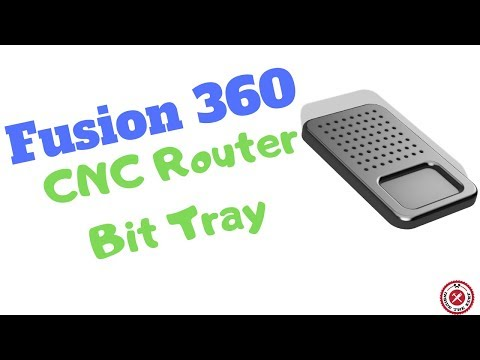 Fusion 360 For Woodworking: CNC Bit Tray