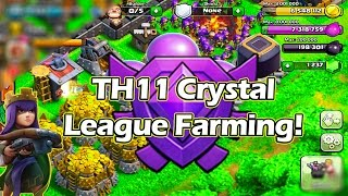 TH 11 Super Queen Farming in Crystal League | Best League to Farm in Clash of Clans