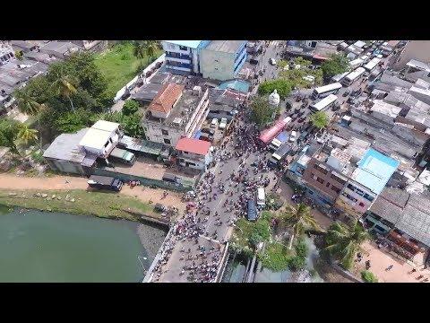 Aerial footage of situation at Kolonnawa Petroleum Storage Terminal