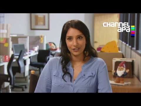 Rebecca Hazlewood as Asha on Outsourced