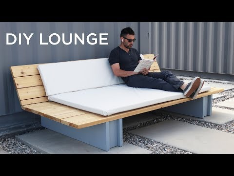 DIY Outdoor Lounge Sofa