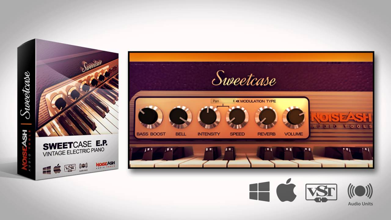 Best FREE Electric Piano VST/AU: Sweetcase Vintage Electric Piano VST AU Plugin (Win/Mac)