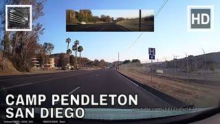 Driving through Camp Pendleton, San Diego