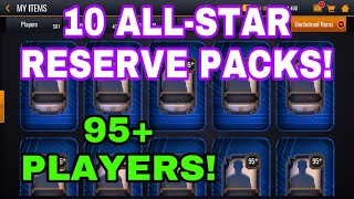 RIPPING OPEN 10 ALL-STAR RESERVE PACKS IN NBA LIVE MOBILE 20!!!