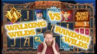 Wild HEIST Walking Wilds VS Randon Wilds BIG WINS!