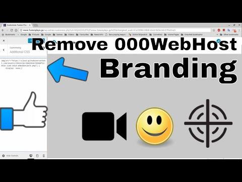 How To Remove 000WebHost Branding For Wordpress