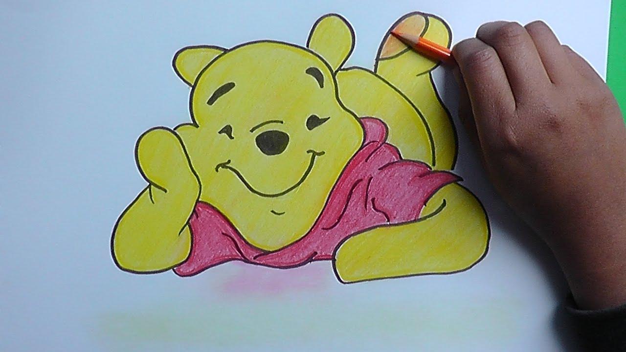 Dibujando a Winnie Pooh hechado 2015 - Winnie Pooh Drawing hechado ...