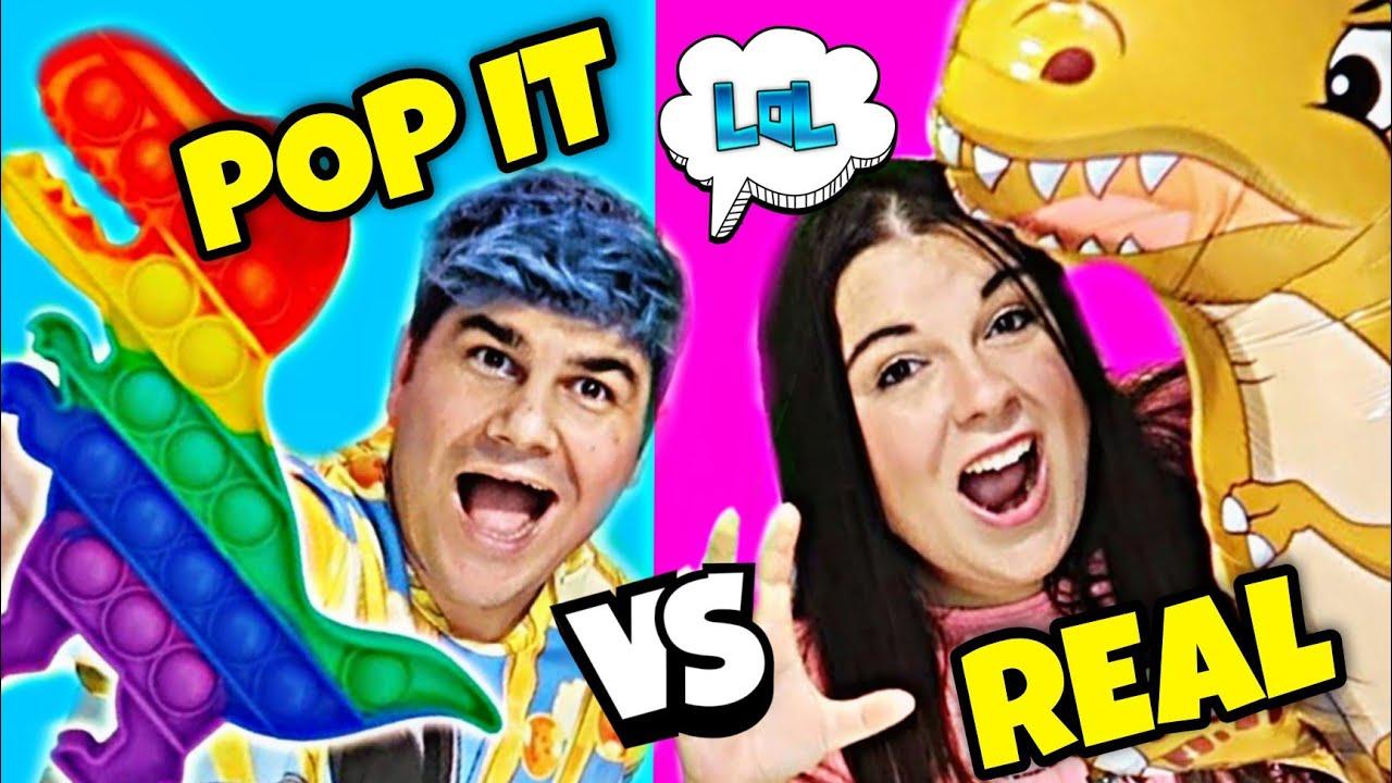 POP IT vs REAL 😱 El JUEGO DE BURBUJAS más VIRAL 🔝 FIDGET TOYS